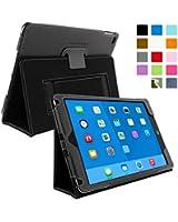 Snugg™ - Étui Pour iPad Air 2 - Smart Cover Avec Support Pied Et Une Garantie à Vie (En Cuir Noir) Pour Apple iPad Air 2