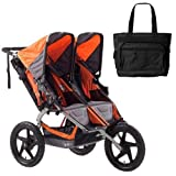 BOB ST1011 Sport Utility Stroller Duallie with Diaper Bag - Orange