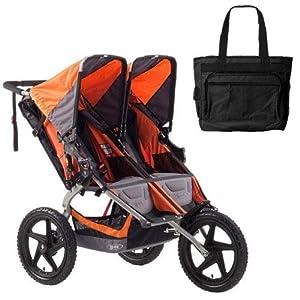 BOB ST1011 Sport Utility Stroller Duallie with Diaper Bag - Orange by BOB
