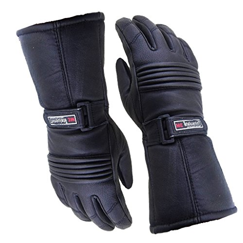 Bikers Gear UK Guantes de moto en cuero e Thinsulate, impermeables e térmicos, hombre color NEGRO Talla L