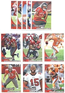 2010 Topps Tampa Bay Buccaneers Complete Team Set (11 Cards)