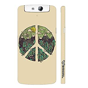 Oppo N1 Peace Out! designer mobile hard shell case by Enthopia