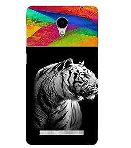 PrintVisa Animal Tiger Print & Pattern 3D Hard Polycarbonate Designer Back Case Cover for VivoY28