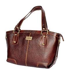 Stonkraft Womens Handbag (Green) (LthrBrwnBag88)