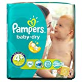 Pampers Baby Dry Nappies Size 4+ Carry Pack 24 Nappies