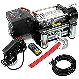 電動ウインチ 24V 10000LBS(4535kg) 無線リモコン付属 電動 ウインチ オフロード車 トラック SUV車(ZeepやFJクルーザー等) 防水仕様