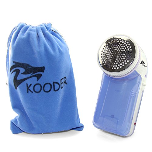KOODER Rechargeable Sweater Shaver,Fabric Shaver, Lint Remover. Easy to carry.Suitable to Use on Pilling Surfaces, Such As Sweater, Coat, Glove, Scarf,and Much More! (Blue) (Rechargeable Lint Remover compare prices)