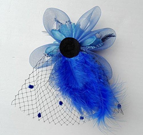 Removable-Fascinator-Hair-Clip-Feather-Wedding-Headwear-Bridal-1920s-Headpiece-Women