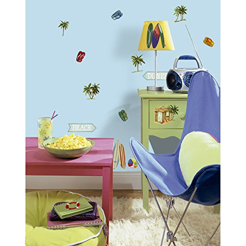 RoomMates RMK1011SCS Surf's Up Peel and Stick Wall Decals - 1