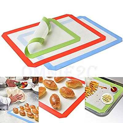 Silicone Baking Mat, Genround Silicone bake mat silicon mats for baking Non Stick Cookie Sheets Professional Grade