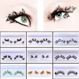 Fancy Stage Party Lady False Eyelashes Paper Cutting Eye Lashes Elegant S107