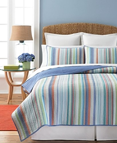 Martha Stewart Collection Chatam Stripe Full/Queen Quilt Bedding
