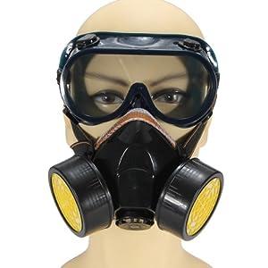 Anti poussiere masque gaz masque lunette protec peinture respirateur chimique industriel amazon - Masque a peinture ...