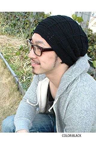 Casualbox Uomo Beanie Berretto Cappello Cotone Mano Fatto Unisex Nero