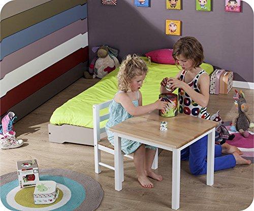 Machambredenfant - Lot de 2 Lits Enfants Empilables Blanc 90x190 cm avec sommier