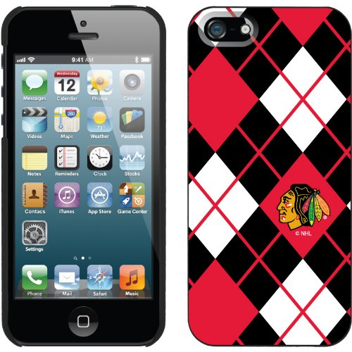 Special Sale Chicago Blackhawks« - Argyle design on a Black iPhone 5s / 5 Thinshield Snap-On Case by Coveroo