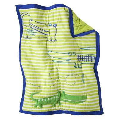 ZUTANOBLUE Alligators 4 pc Crib Bedding Set