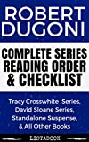 Robert Dugoni Series Reading Order & Checklist: Series List in Order - David Sloane Series, Tracy Crosswhite Series, The 7th Canon, & All Other Books (Listabook Series Order Book 37)