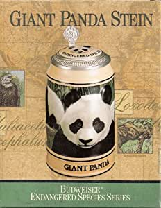 Budweiser Collectible Endangered Species Series Covered Stein - Giant Panda Stein