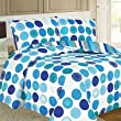 Saturn Circle Duvet Cover Set, Teal, Single