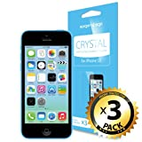 SPIGEN iPhone 5C Screen Protector Clear [Crystal] [3-PACK] **Value Pack** Premium Front Screen Protector – [LIFETIME WARRANTY]
