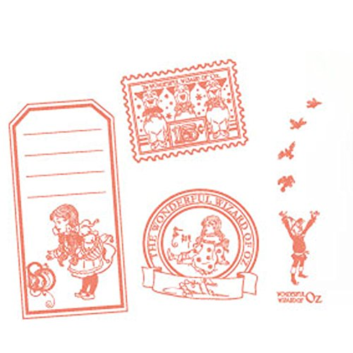 The Wizard of Oz Dorothy Stamps Wooden Stamp Set (4-Piece) with Tin Box (Pattern 1)