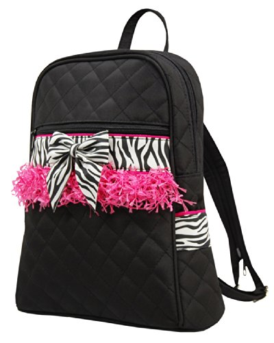 It's A Girl's Life SMALL CHILD Quilted Backpack with Zebra Print Blank (Personalized Zebra Garment Bag compare prices)
