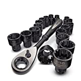 19-piece Universal Passthrough Metric & SAE 3/8