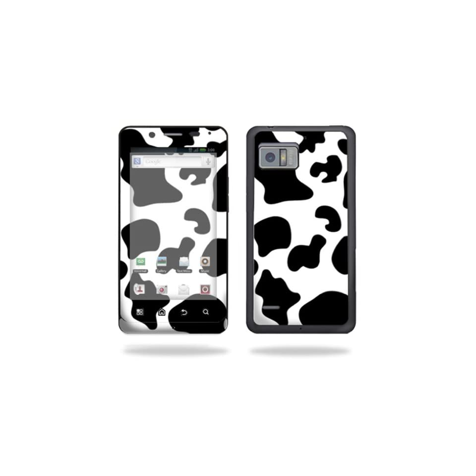 Protective Vinyl Skin Decal Cover for Motorola Droid Bionic 4G LTE Cell Phone Sticker Skins   Cow Print