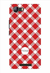 Noise Checkers Printed Cover for Micromax Canvas Spark 2 Q334