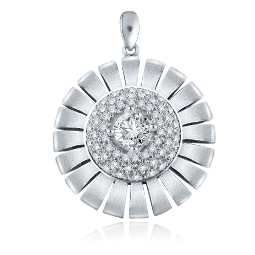 Sterling Silver Simulated Diamond Pendant-1.0ct