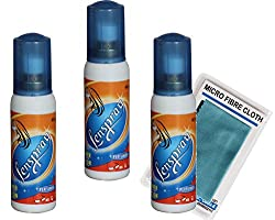 Lenspray 40 ML Tripple Pack FREE 1 HQ Micro Fibre Cloth Camera Lens Cleaning Solution