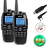 TYT 256CH 5W Two Way Radio DTMF Digital Walkie Talkie DPMR Ham Transceiver Dual-Band VHF+UHF 136-174+400-470MHz with GPS Positioning and USB Program Cable