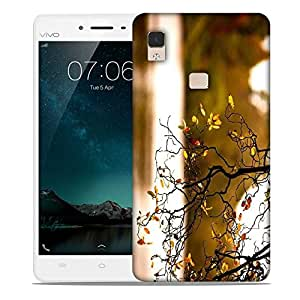 Snoogg Yellow Leaves On Trees Designer Protective Phone Back Case Cover For Vivo V3 Max