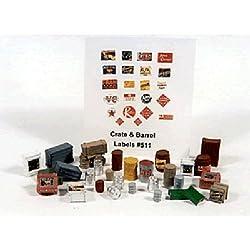 HO Crates, Kegs/Barrels (30) JLI511