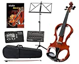 Classic Cantabile EV-81 Violon Electronique Set incl. + Accessoires + Notes