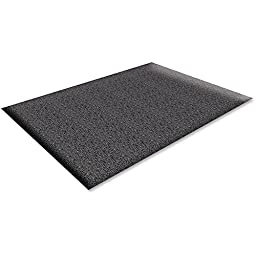 Genuine Joe Soft Step Anti-Fatigue Mat - Warehouse - 36quot; Length x 24quot; Width x 0.38quot; Thickness Overall - Vinyl - Black