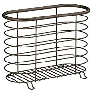InterDesign Forma Newspaper and Magazine Rack for Bathroom, Bronze