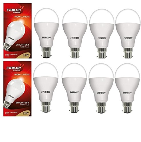 14W LED Bulbs (White, Pack of 8)