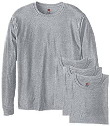 Hanes Men's 4 Pack Long Sleeve Comfortsoft T-Shirt, Light ST-Shirtl, X-Large