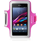 Shocksock Slim Fit Neopren Sport Armband Armtasche f�r Sony Xperia Z1 H�lle Pink