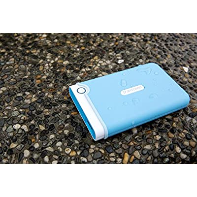 Transcend StoreJet 2.5 inch 1 TB Auto-Backup Drive (Light Blue)