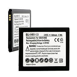 Samsung SM-S765C Cell Phone Battery (LI-ION 3.8V 1500mAh) - Replacement For Samsung EB-B130 EB-B130AU EB-B130BE Cellphone Battery