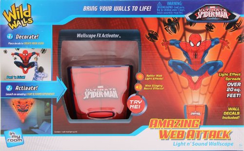Uncle Milton - Spider Man Wild Walls - Light and Sound Room Decor