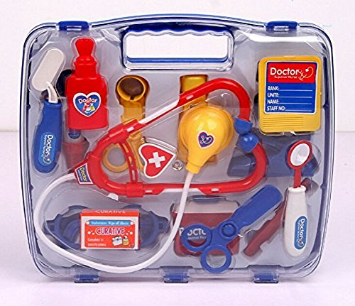 SZJJX-Deluxe-Puzzle-Simulation-Medicine-Box-Doctor-Toys-Set-Kids-Pretend-Play-Doctor-Set-Doctor-Nurse-Medical-Kit-Playset-for-Kids-Child-Care-Box-Doctor-Tools-Toys-Blue
