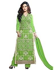 Aarti Saree Georgette Fashionable Party Wear Fancy Green Suit