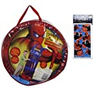 Spiderman Hanging Storage and Organizer with 14 Pockets AND a Rare Spiderman Stickers Gift Set