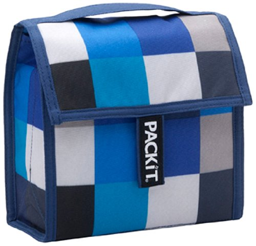 PackIt Freezable Lunch Cooler Bag, Mini, Boxy Blue Picture