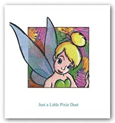 "Just A Little Pixie Dust by Walt Disney 23""x24"" Art Print Poster Disney"