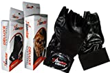 Tenstar Gym Gloves Deluxe (Weight Lifting Gloves)(Black)